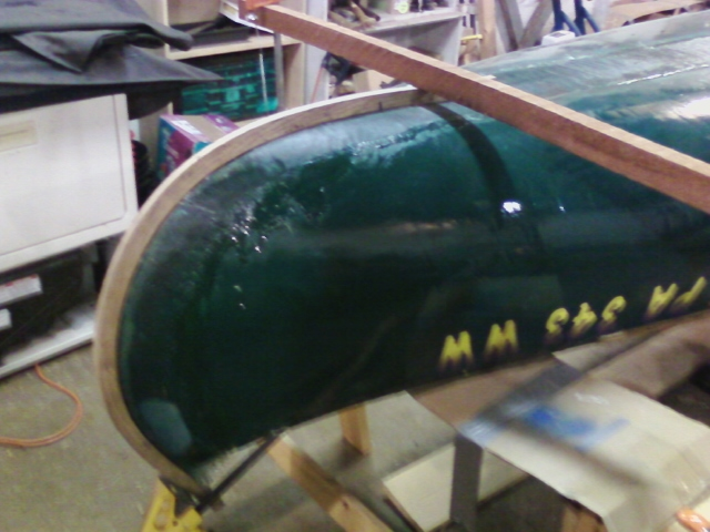 Stowe canoe steam bent frame